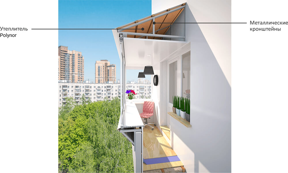 Остекление балконов на последних этажах, монтаж крыши и осте.